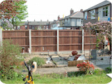 Short 2ft vertical lap feather edge fence panels.