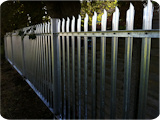 2 metre palisade security fencing in black PPC.