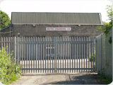 Pair of industrial steel palisade gates fitted for Metric Engineers in Bolton Greater Manchester.