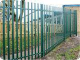 For this school fencing, we used 2.4 metre galvanized & PPC round top pale palisade fencing. Fencing for schools and playgrounds has to be suitable for purpose.
