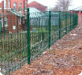 Paladin welded mesh panel fencing fitted on a housing estate in Bury.
