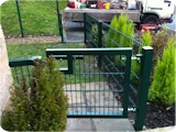 2 metre high mesh panel fencing for security at a residential home in Walkden Worsley, Manchester.