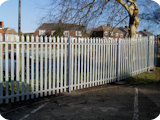 1.8 metre steel paliside fencing.