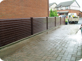 Full PVC fencing at 3ft with solid maintenance free PVC fence panels.
