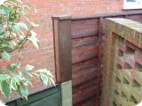 5ft waneylap panels in 3ft concrete posts with 2ft fence post extensions.
