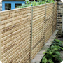 5ft heavy trellis panels used in bespoke wall-top fencing.