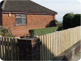 Picket garden fencing at 3ft in Egerton Bolton.
