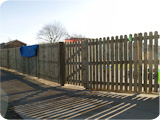 Picket fencing for a playground at a school in Bolton