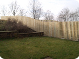 Double paled hit and miss timber fencing bespoke custom made on site.